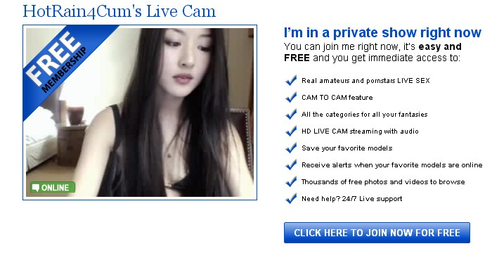 HotRain4Cum is one of our top Asian Live webcam models.